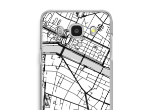 Put a city map on your Galaxy J7 (2016) case