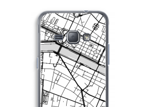 Put a city map on your Galaxy J1 (2016) case