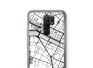 Put a city map on your Redmi 9 case