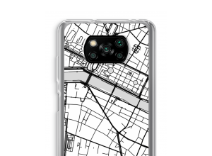 Put a city map on your Poco X3 NFC case