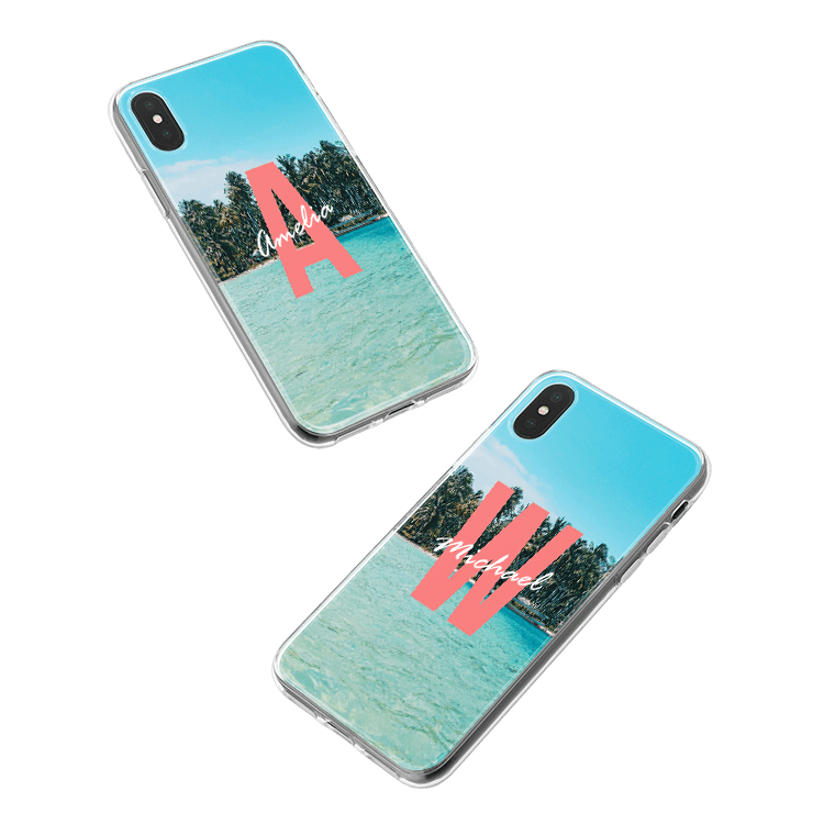 Put your monogram on a Motorola Moto G6 Plus smartphone case